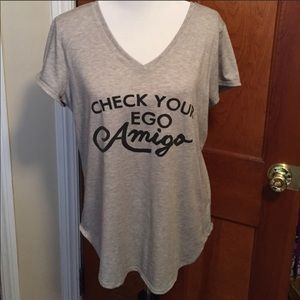 Check Your Ego Amigo Double V-Neck Tee